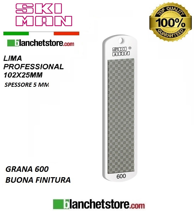 Diamond File PVC mm 100 Grana 600 -BIANCO-