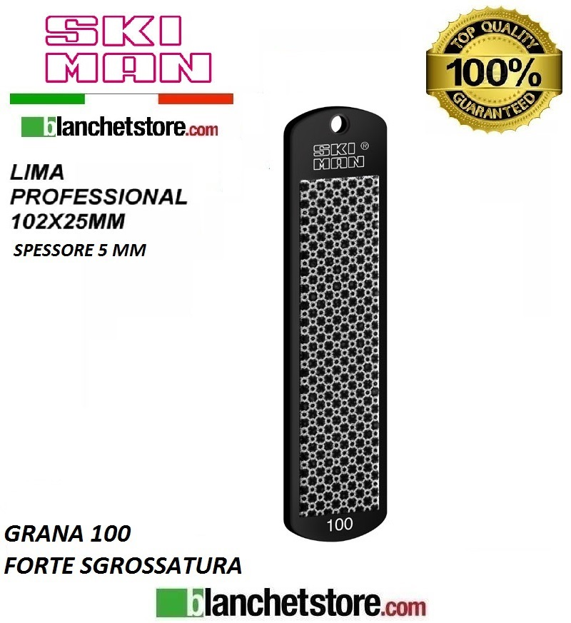 Diamond File PVC mm 100 Grana 100 -NERO-