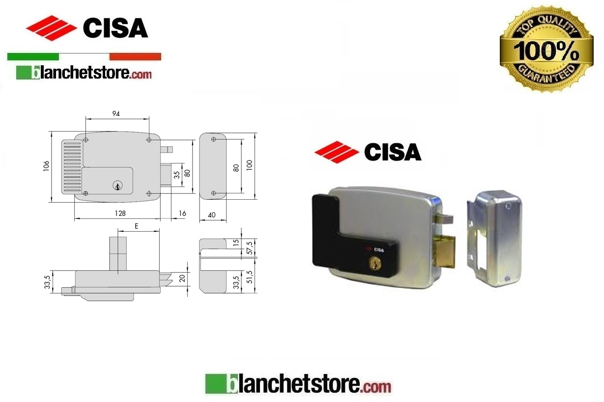 Elettroserratura Cisa per infissi Art.11921/3 Spinta Sx 60 cm - 43.50EUR : BlanchetStore.com, Il ...