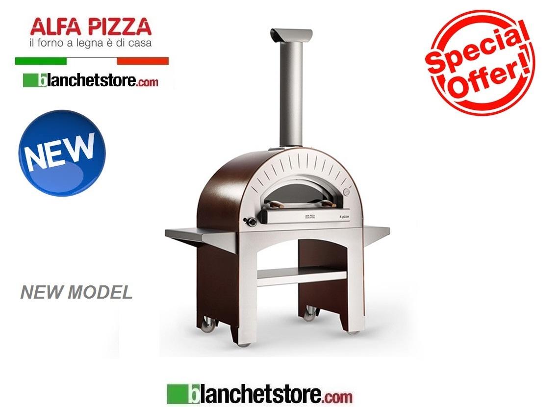 Forno a gas alfapizza mod 4 pizze gas acciaio inox 4 pizze for Forno per pizza a gas