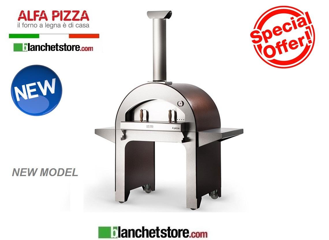 Forno A Legna Alfapizza Mod 4 Pizze Acciaio Inox 4 Pizze