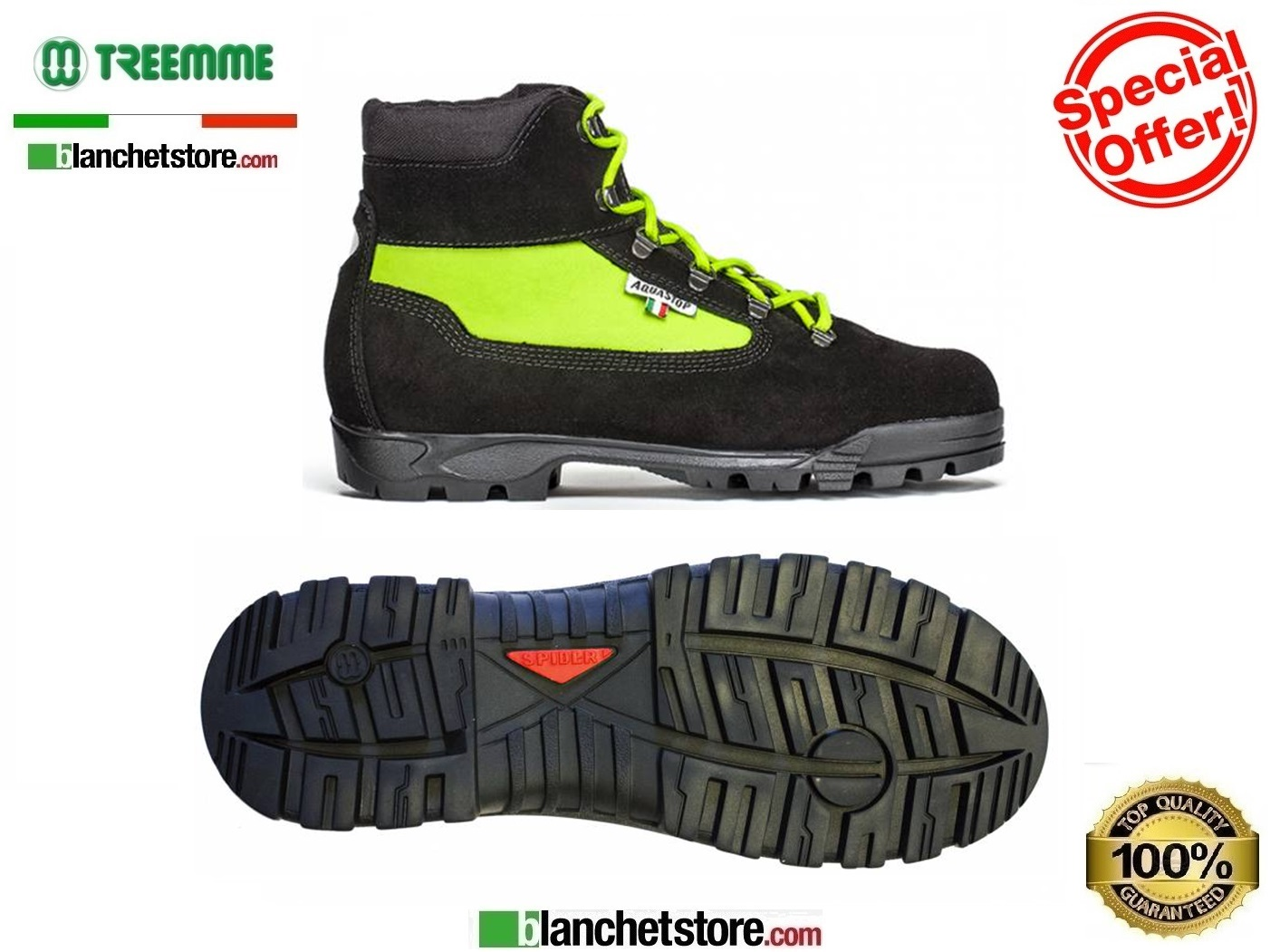 Scarponcino Trekking in crosta-cordura 9518 N.47 Acquastop Yello