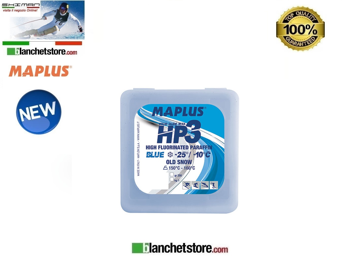 Sciolina MAPLUS HIG FLUO HP 3 Conf 250 gr BLUE NEW