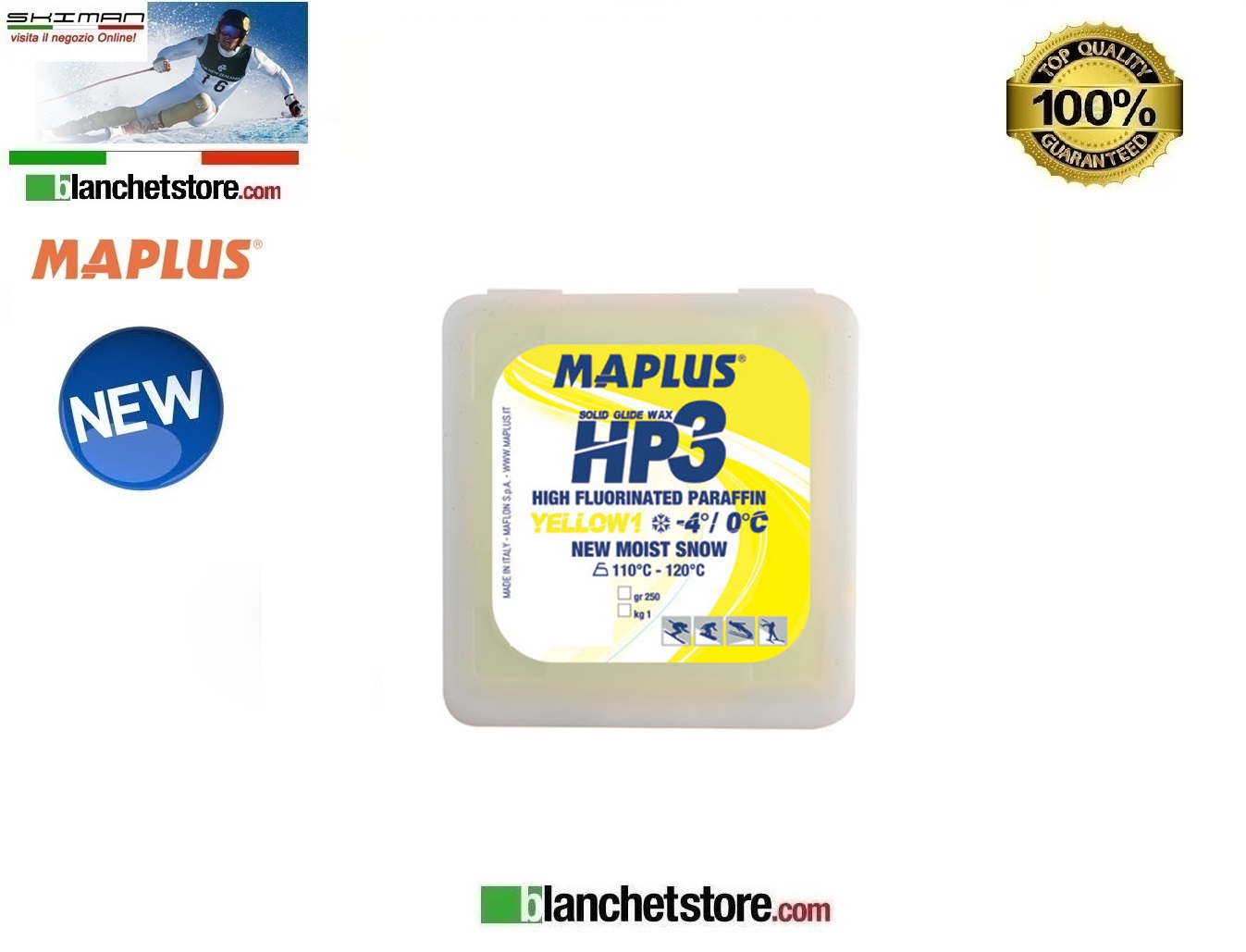 Sciolina MAPLUS HIGH FLUO HP 3 Conf 250 gr YELLOW NEW