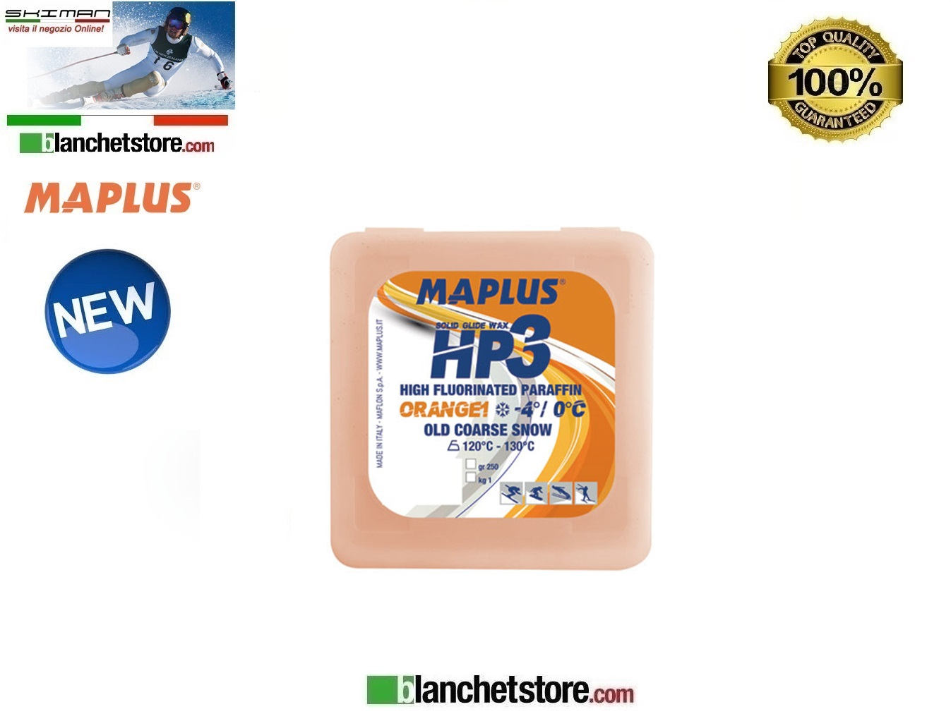 Sciolina MAPLUS HIGH FLUO HP 3 Conf 250 gr ORANGE-1 NEW