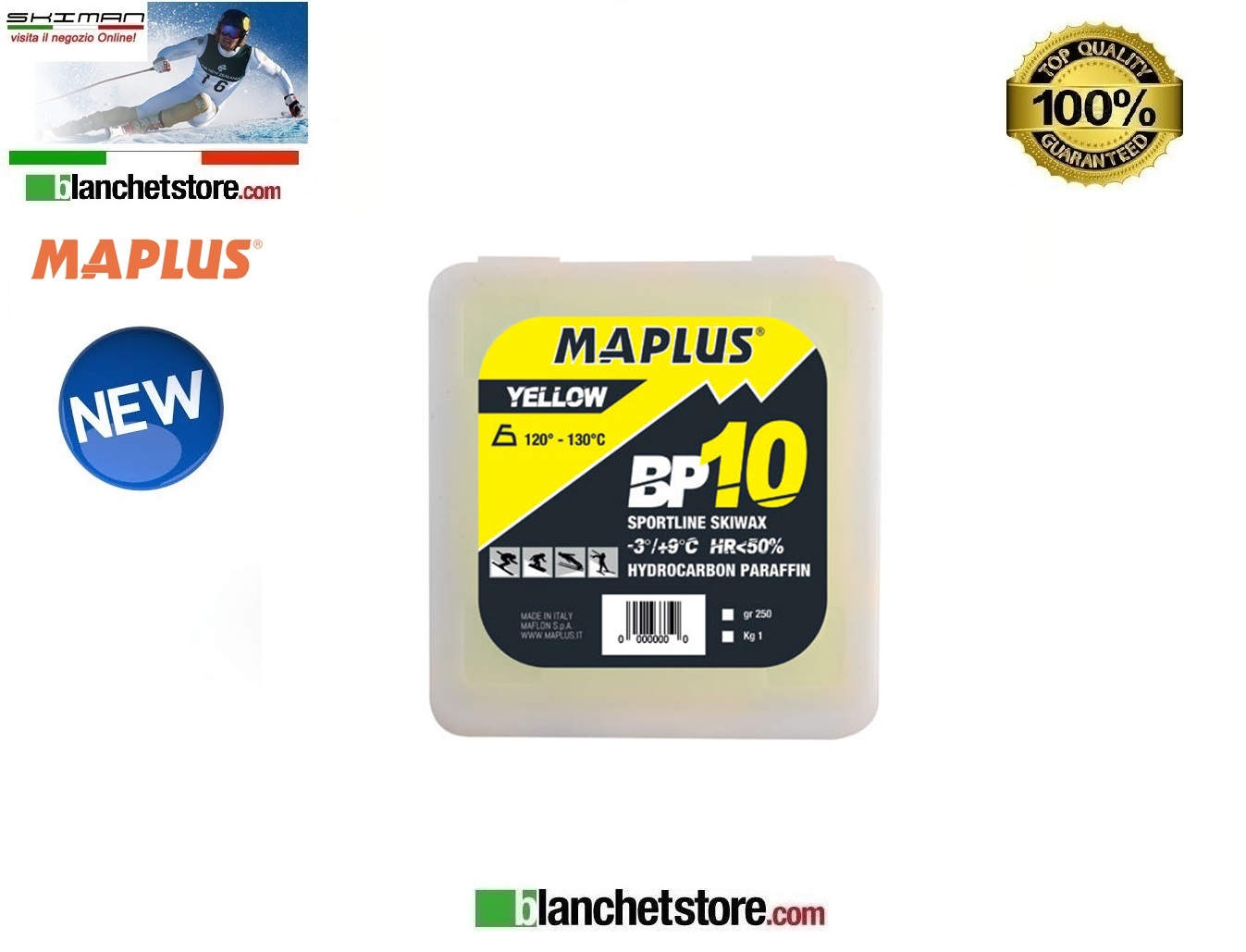 Sciolina MAPLUS BASE BP 10 Vaschetta 250 gr YELLOW