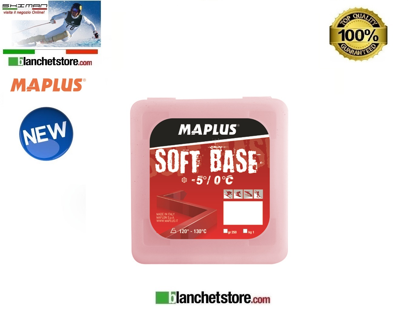 Wax MAPLUS SOFT BASE RED 250 gr