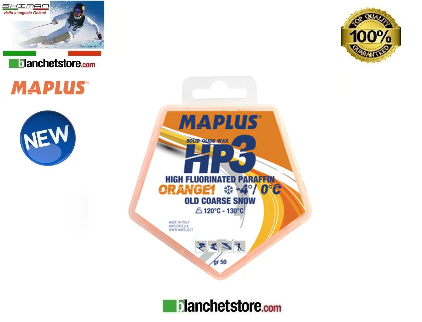 Sciolina MAPLUS HIGH FLUO HP 3 Conf 50 gr ORANGE-1 NEW