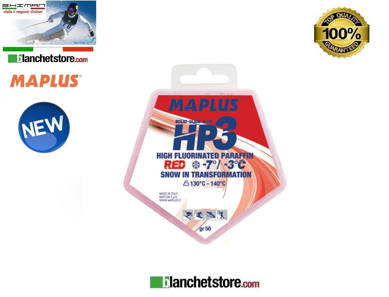 Sciolina MAPLUS HIG FLUO HP 3 Conf 50 gr RED NEW