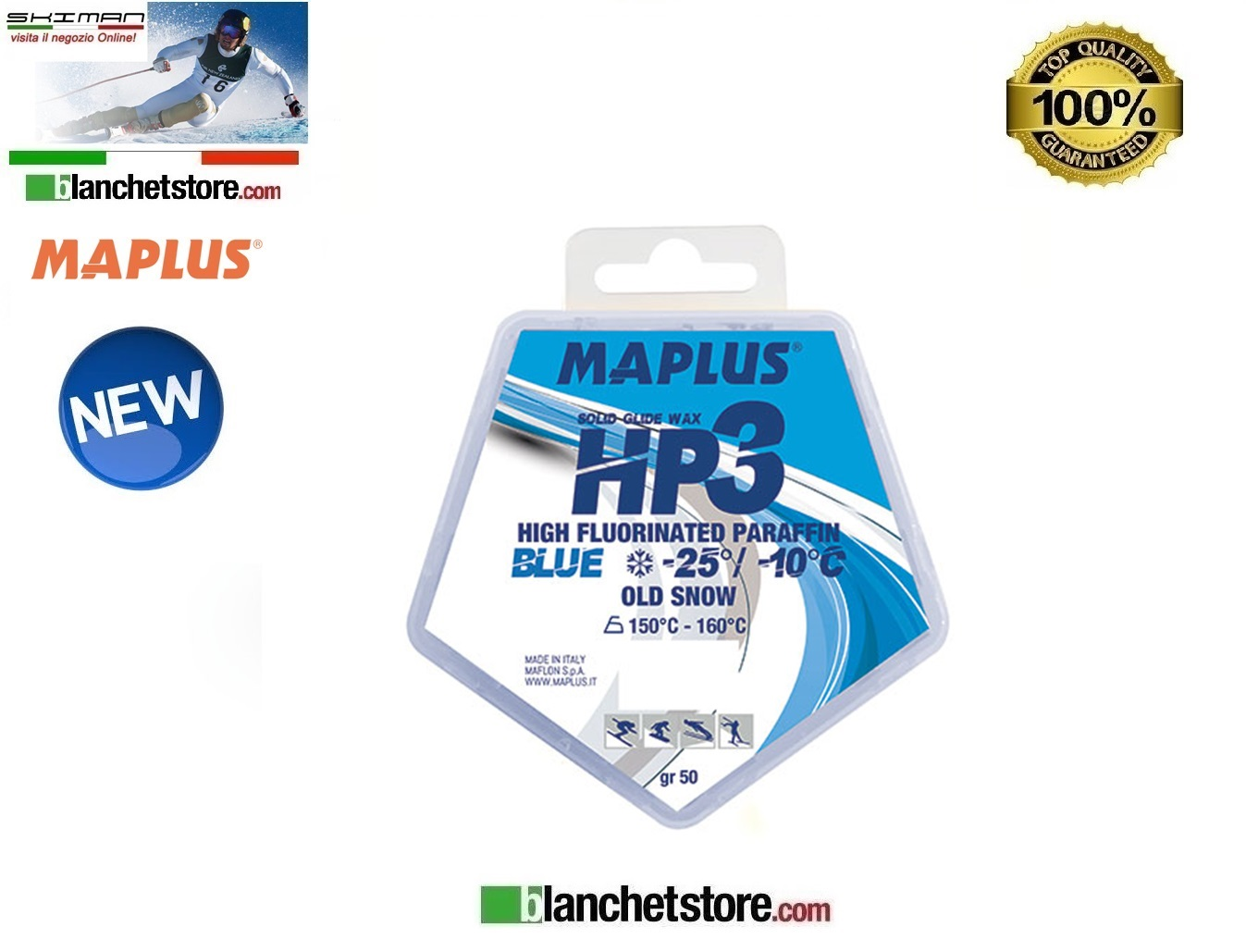Sciolina MAPLUS HIG FLUO HP 3 Conf 50 gr BLUE NEW