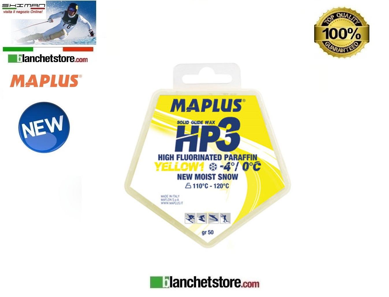 Sciolina MAPLUS HIGH FLUO HP 3 Conf 50 gr YELLOW NEW