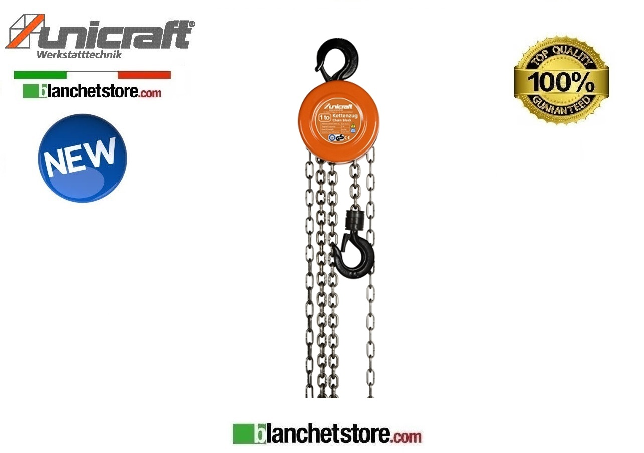 PARANCO A CATENA UNICRAFT K 1000 PORTATA 1 TON