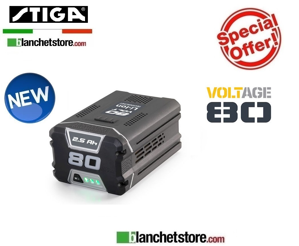 Batteria litio STIGA SBT 5080 AE 80Volt 5A Litio