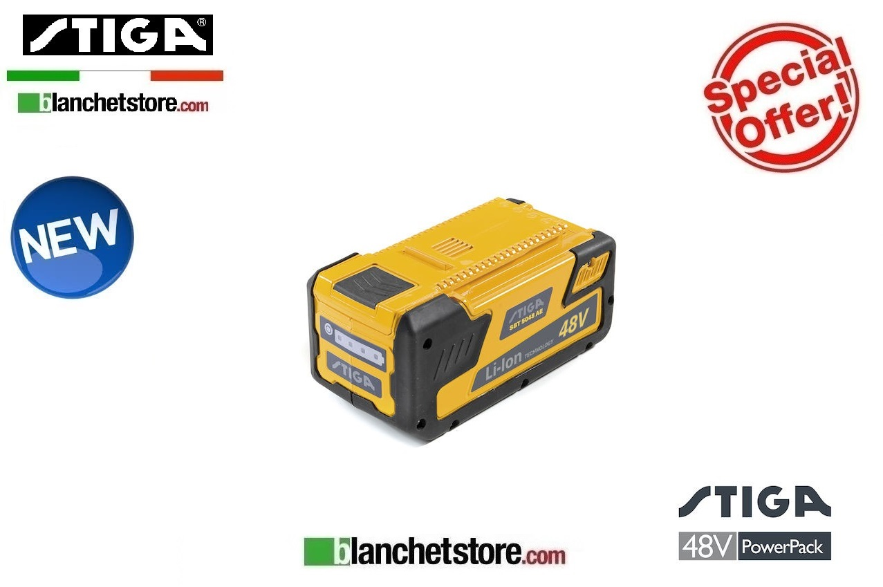 Batteria litio STIGA SBT 2548 AE 48Volt 2,5A Litio