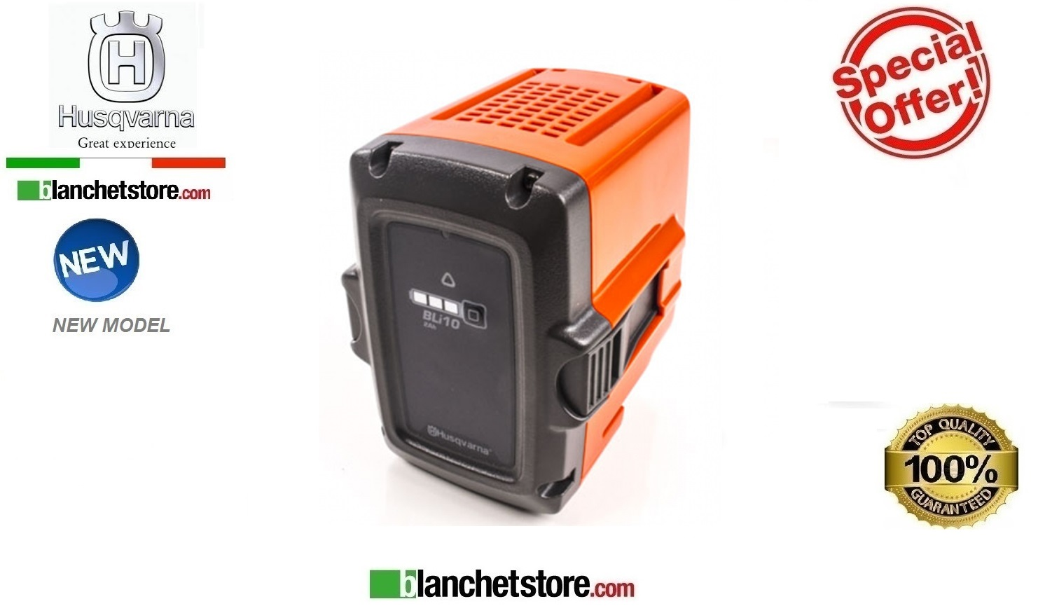 Batteria Husqvarna BLi10 36 Volt - 2,0Ah new model