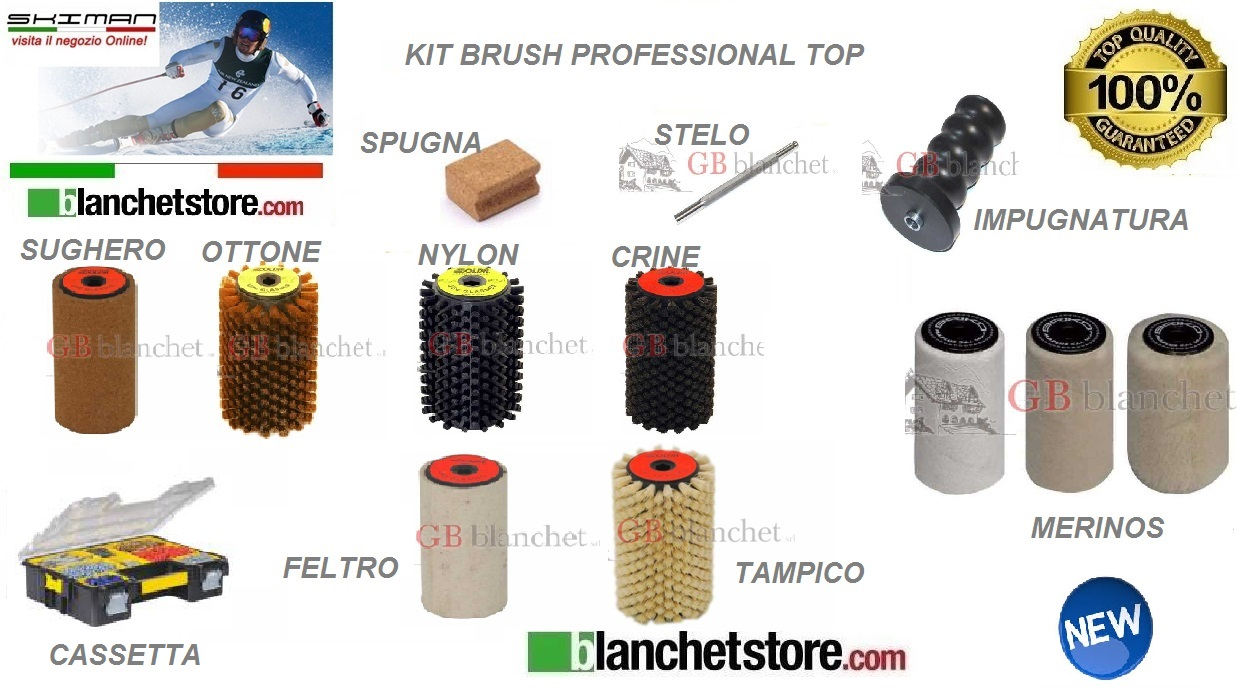 Kit cassetta brush professional Top