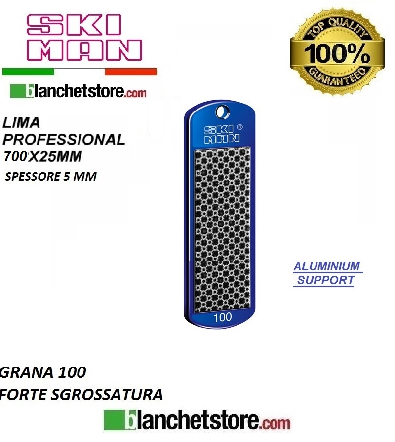 Diamond File Aluminium mm 70 Grana 100 -NERO-