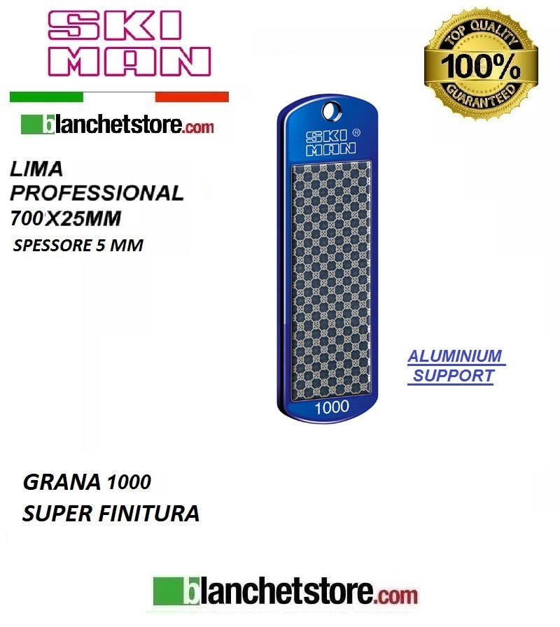 Diamond File Aluminium mm 70 Grana 1000 -BLU-