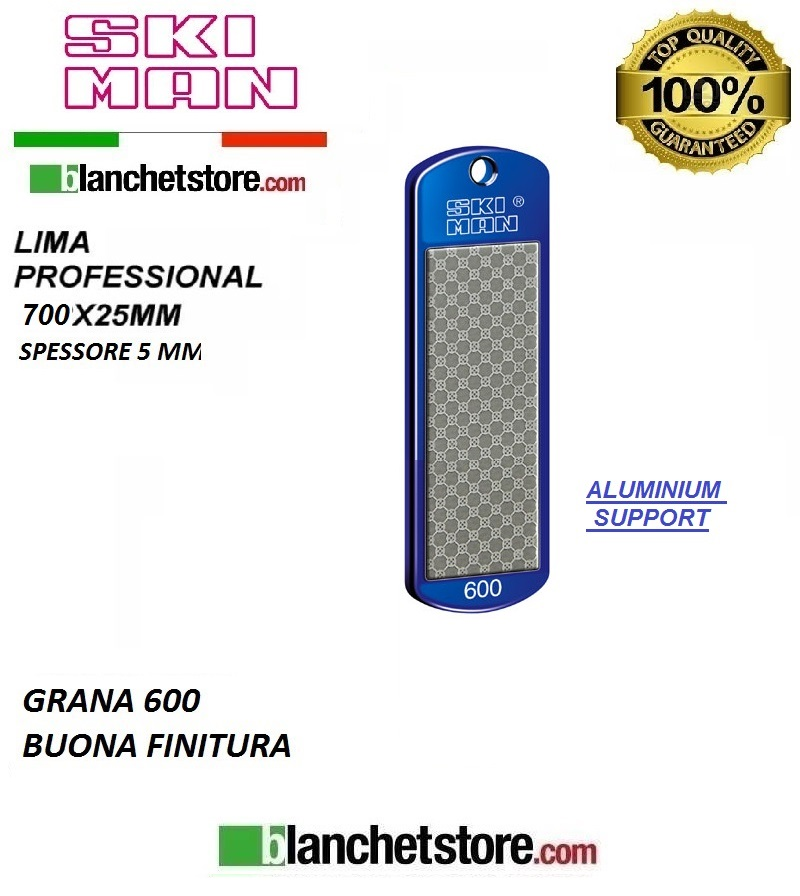 Diamond File Aluminium mm 70 Grana 600 -BIANCO-