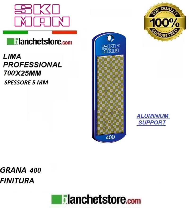 Diamond File Aluminium mm 70 Grana 400 -GIALLO-