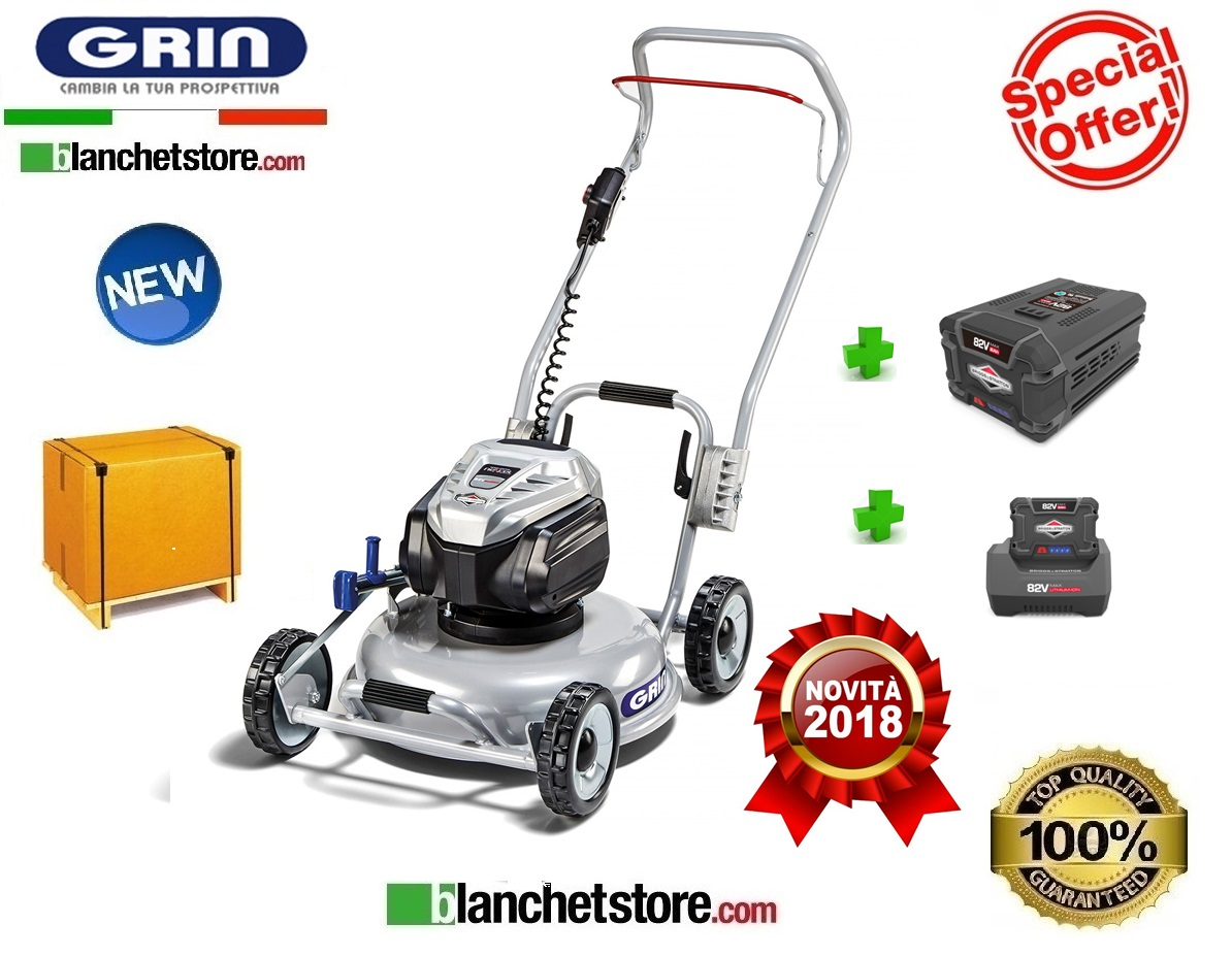 RASAERBA GRIN PM46 82V 5A BATTERIA LITIO PROFESSIONAL