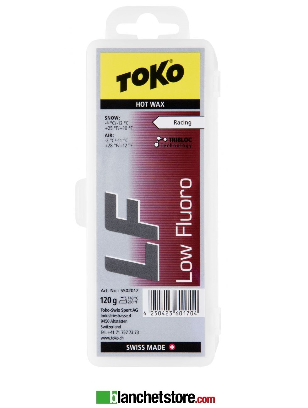 Sciolina Toko LF Hot Wax low fluo blister 120 gr RED