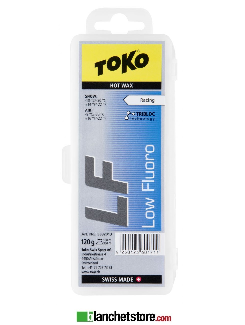 Sciolina Toko LF Hot Wax low fluo blister 120 gr BLUE