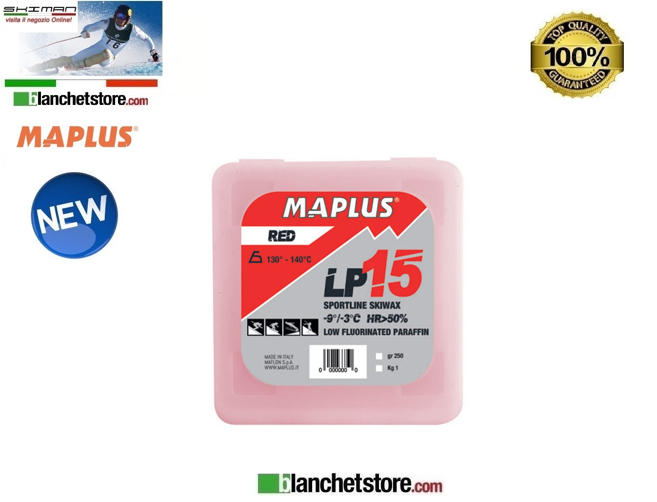 SCIOLINA MAPLUS LOW FLUO LP 15 RED Conf 250 gr