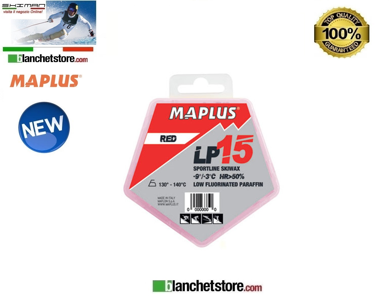 SCIOLINA MAPLUS LOW FLUO LP 15 RED Conf 100 gr