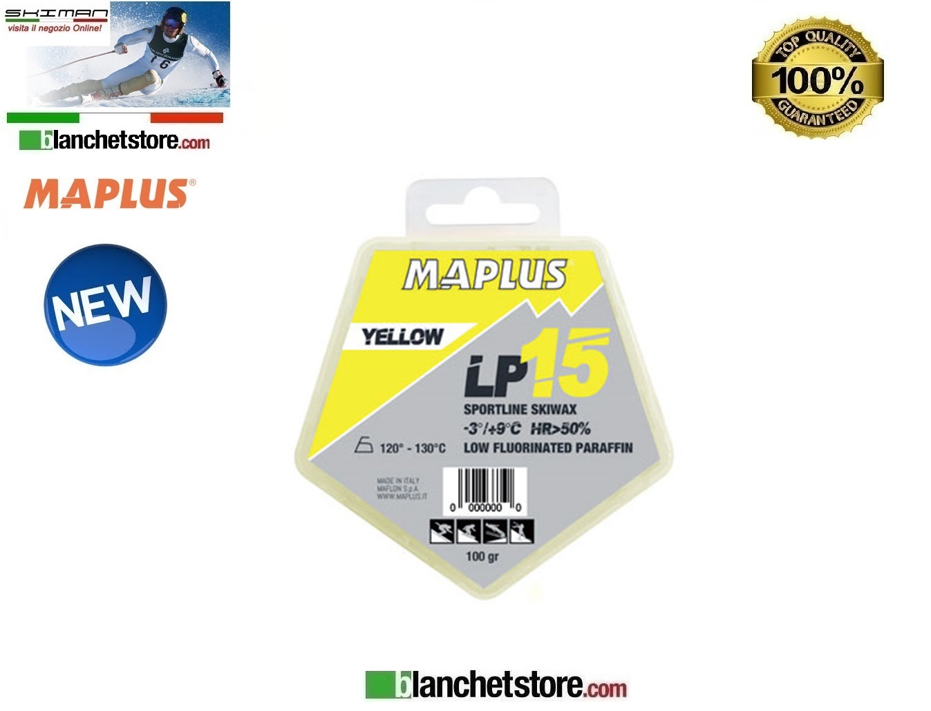 SCIOLINA MAPLUS LOW FLUO LP 15 YELLOW Conf 100 gr