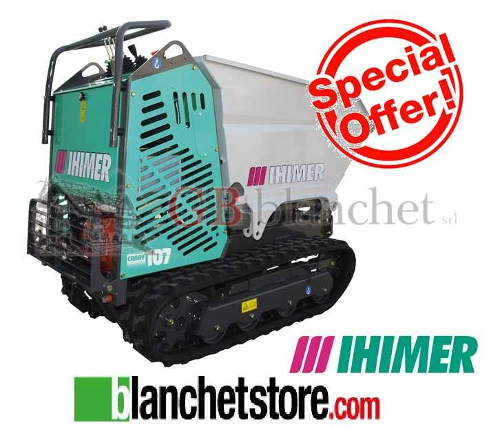 Motocarriola Minidumper IHIMER CARRY 107 Base Honda GX 270 8HP