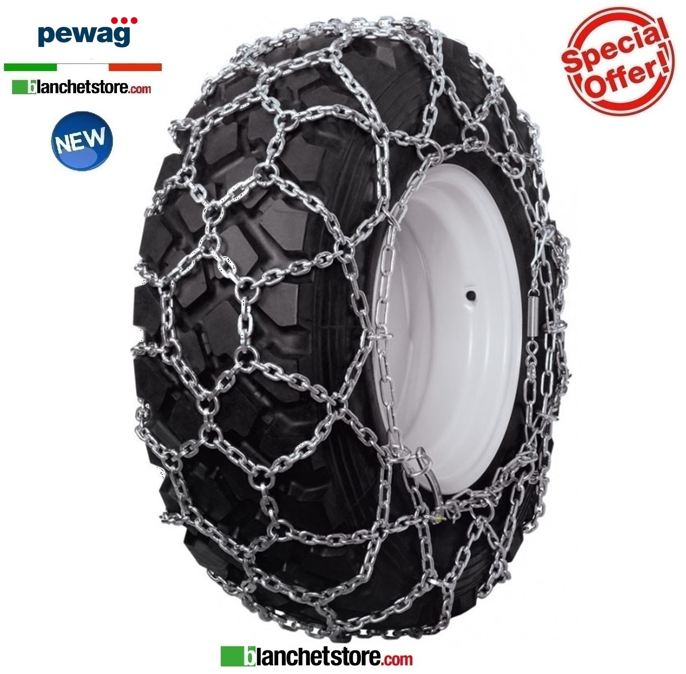 Chaines a neige PEWAG UNIVERSAL U 3645 pour tracteurs