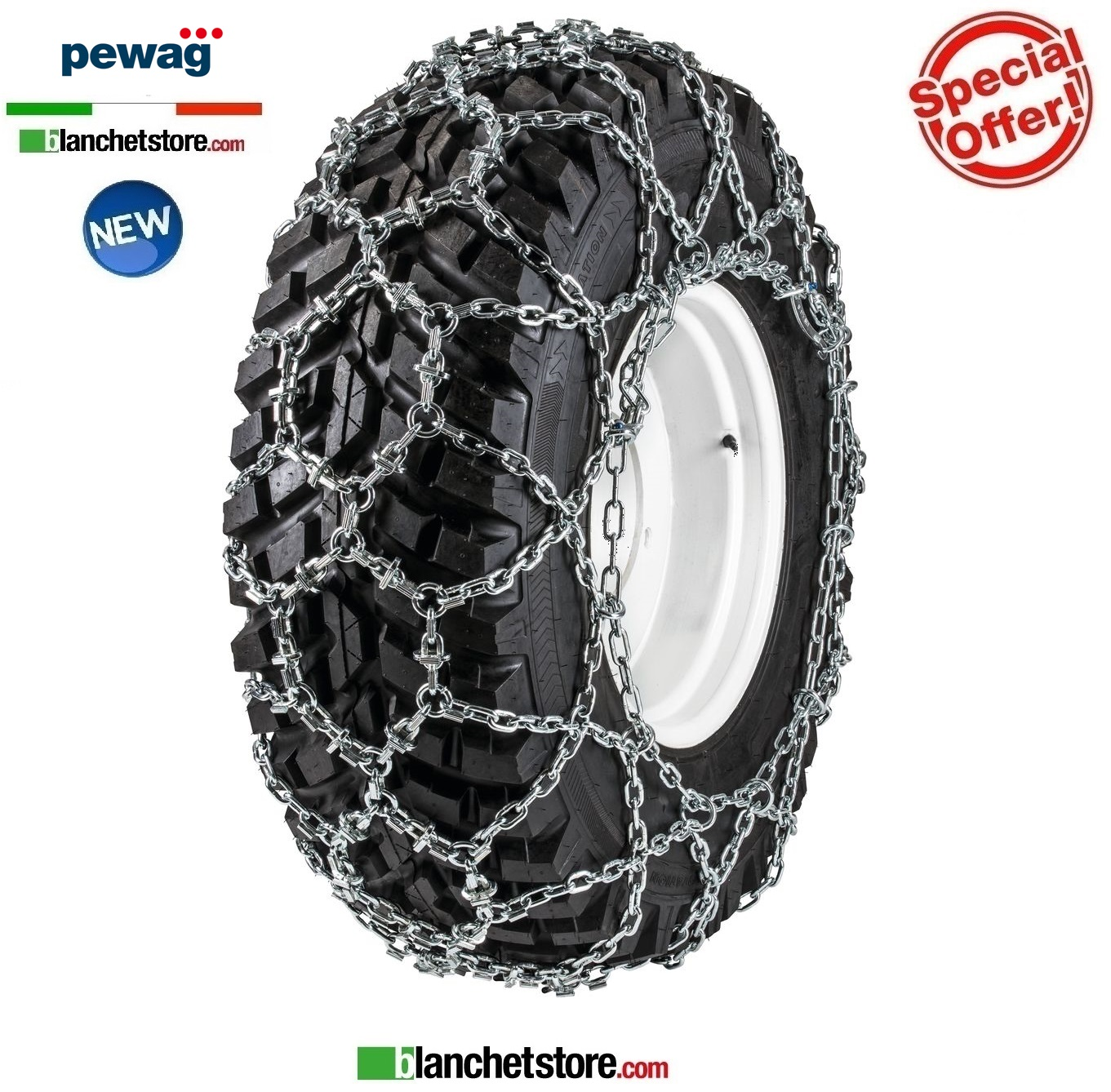 Chaines a neige PEWAG UNIVERSAL ED U 3934 ED pour tracteurs