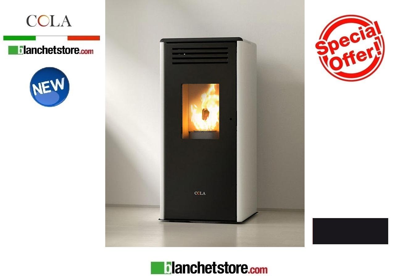 Stufa a pellet Cola Smart Nero 7.1Kw Acciaio Maiolica - 1,172.00EUR ...