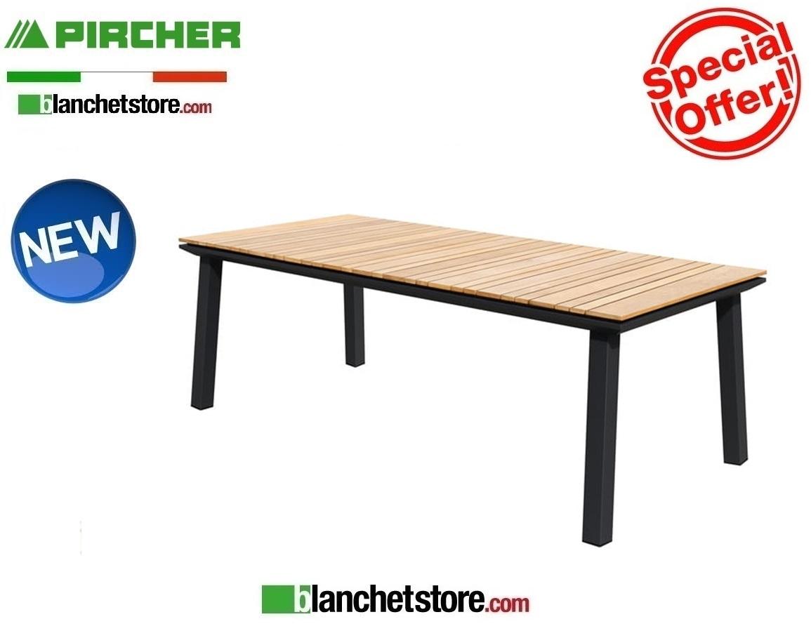 Pircher Tavoli Da Giardino.Tavolo Da Giardino Pircher Mod Soho 200x90 Con Piano In Teak