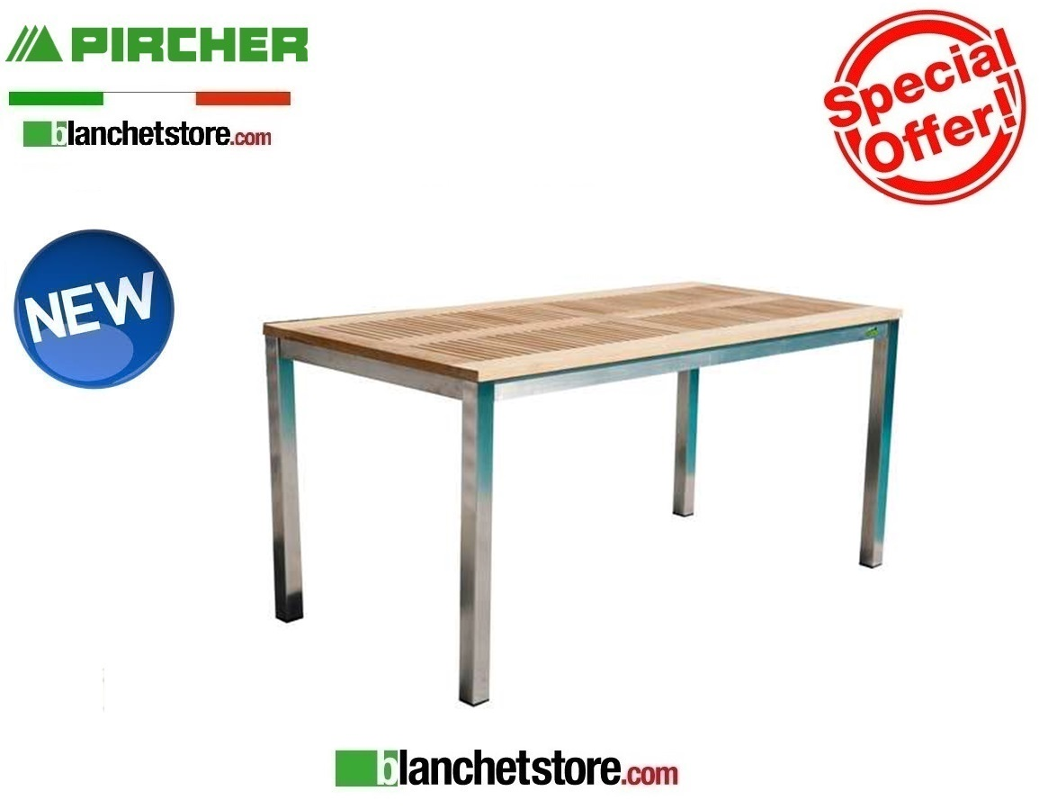 Pircher Tavoli Da Giardino.Tavolo Da Giardino Pircher Mod Urban 160x90 Con Piano In Teak