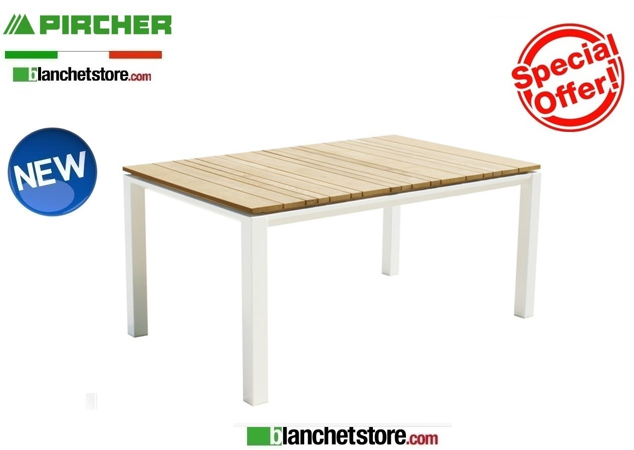 Pircher Tavoli Da Giardino.Tavolo Da Giardino Pircher Mod Cube 150x90 Con Piano In Teak