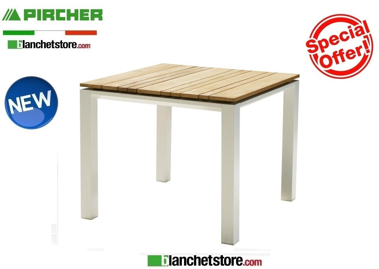 Tavolo Da Giardino 90x90.Tavolo Da Giardino Pircher Mod Cube 90x90 Con Piano In Teak