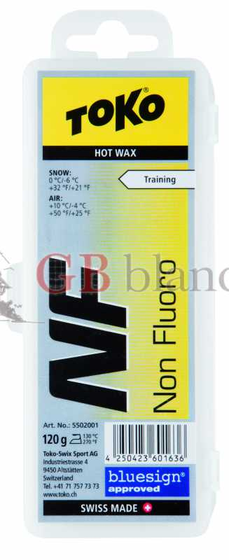 Wax Toko NF Hot Wax blister 120 gr YELLOW