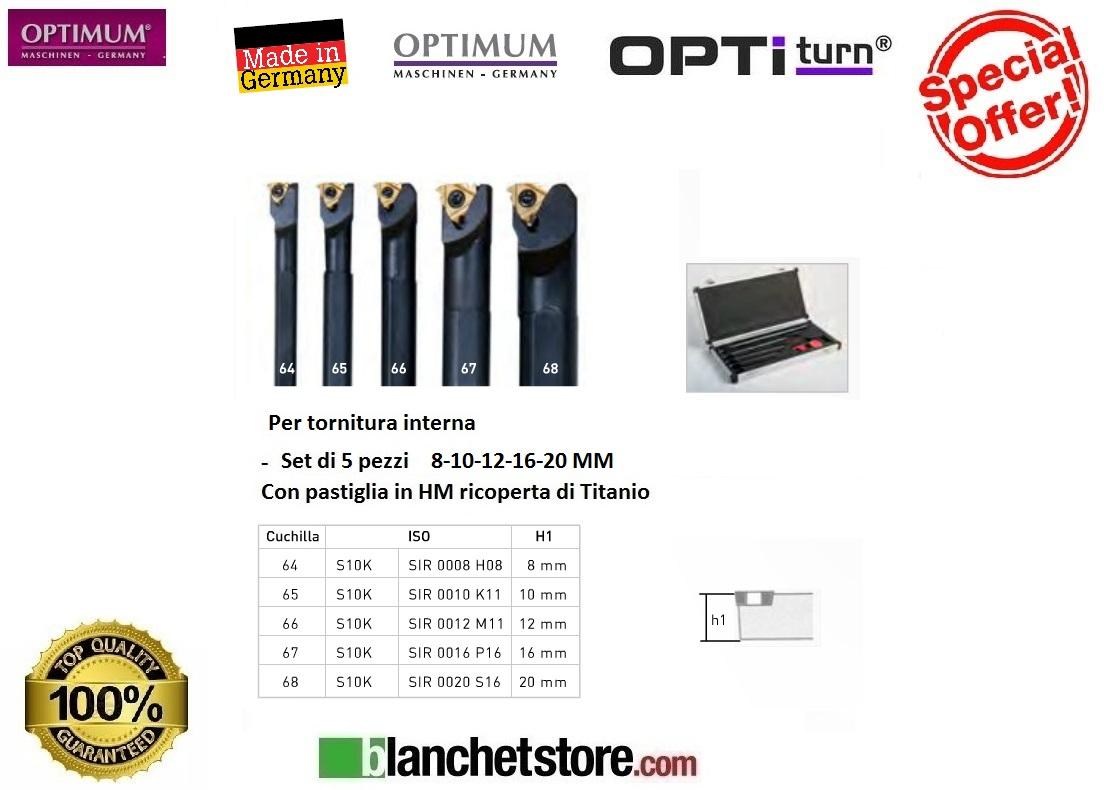 Kit set 5 utensili interni da tornio optimum md 8 10 12 16 for Kit tornio