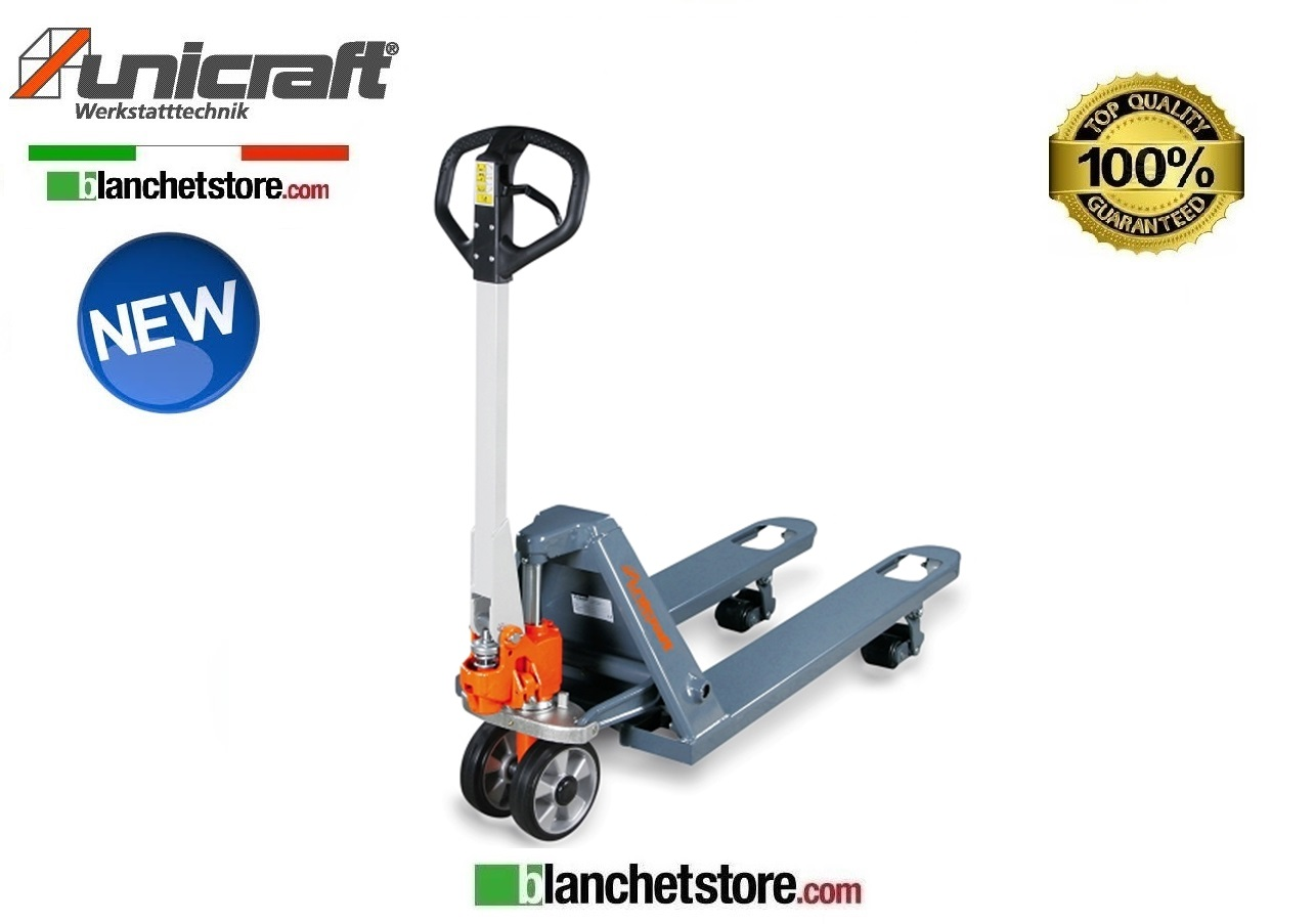 TRANSPALLET MANUALE UNICRAFT PHW FORCHE 800MM PORTATA 2.5 TON