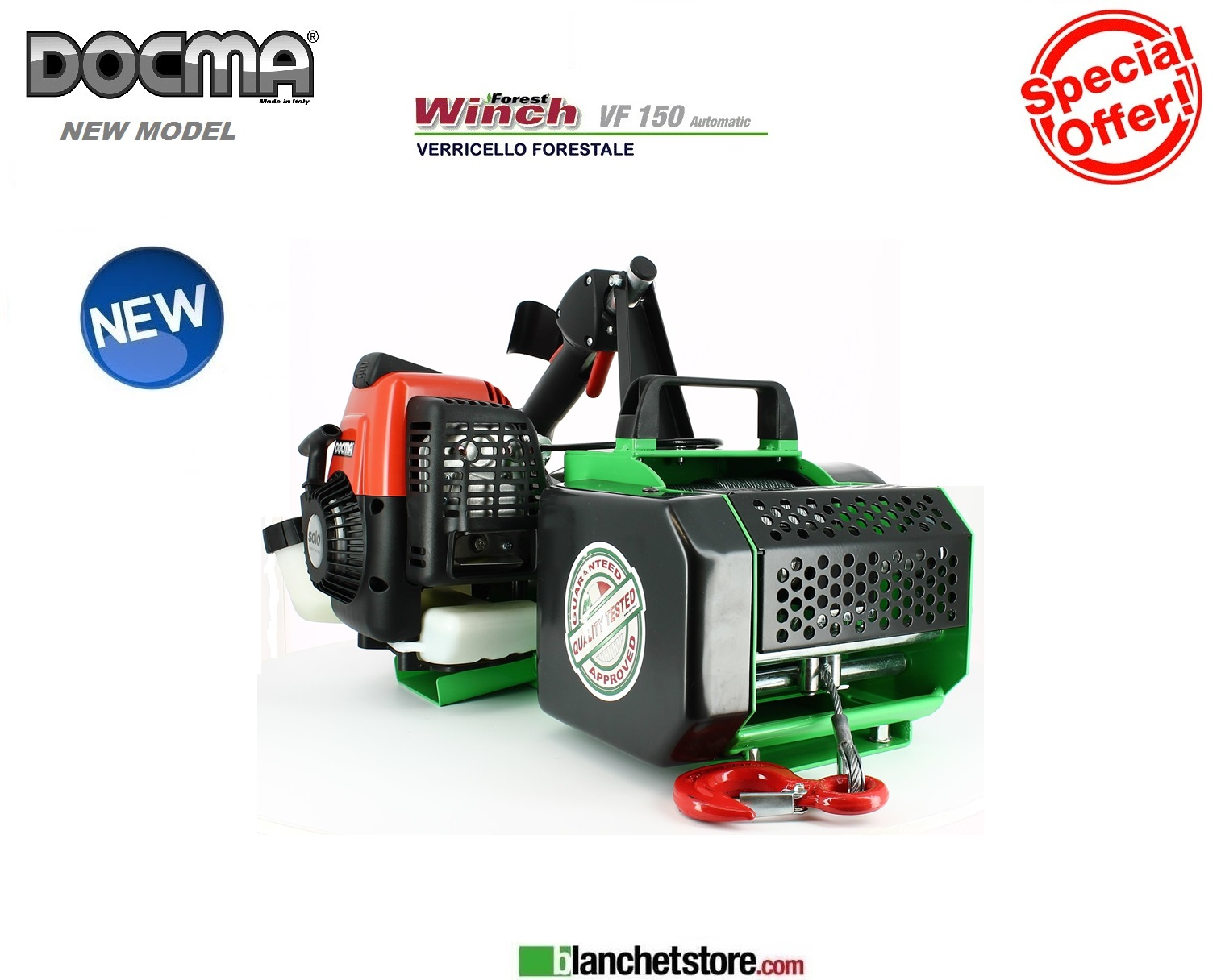 Verricello Forestale Forest Winch Docma VF150 Automatic
