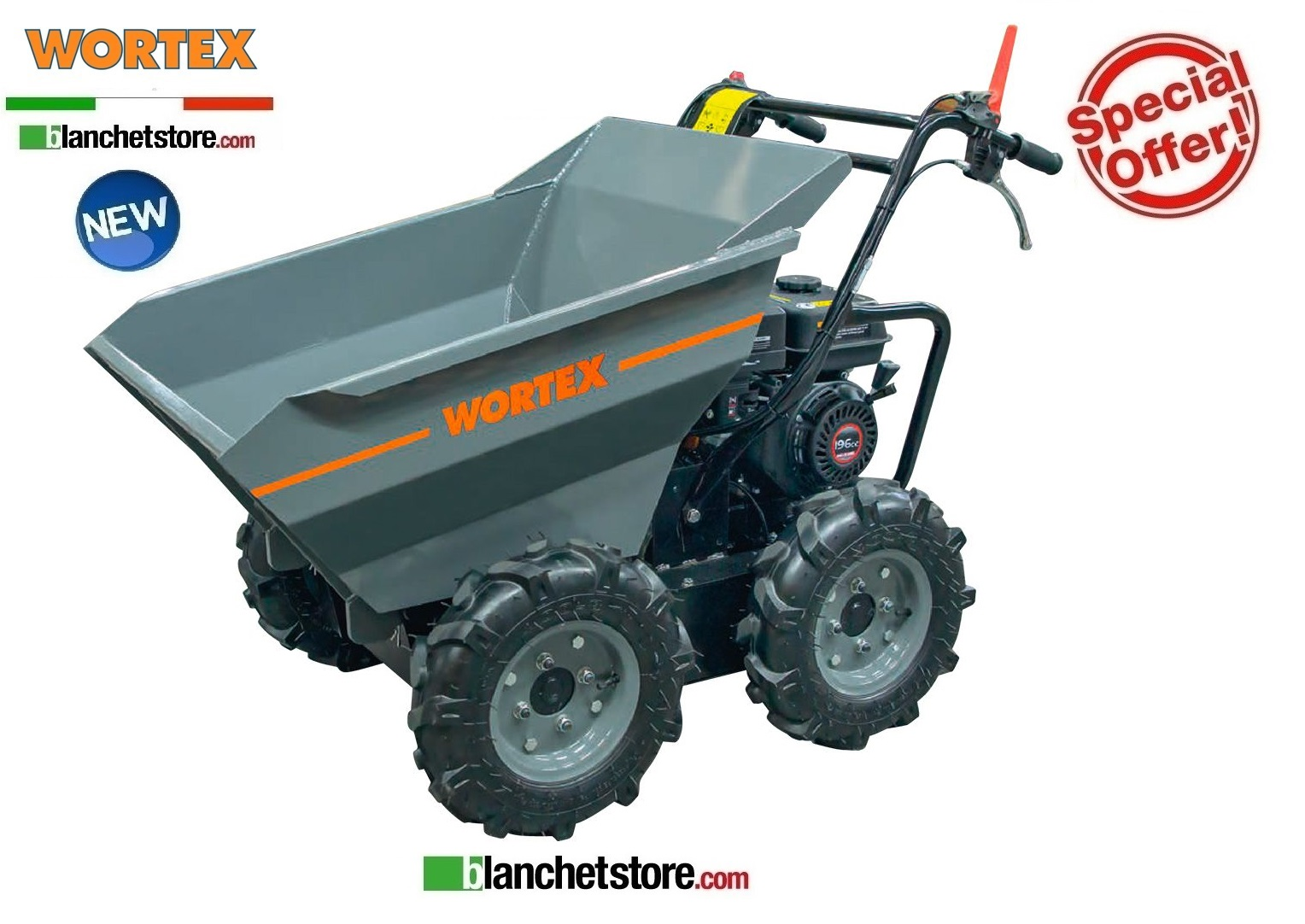 MOTOCARRIOLA DUMPER Wortex SF 4WD Loncin G210F 300 KG Rib.Manual