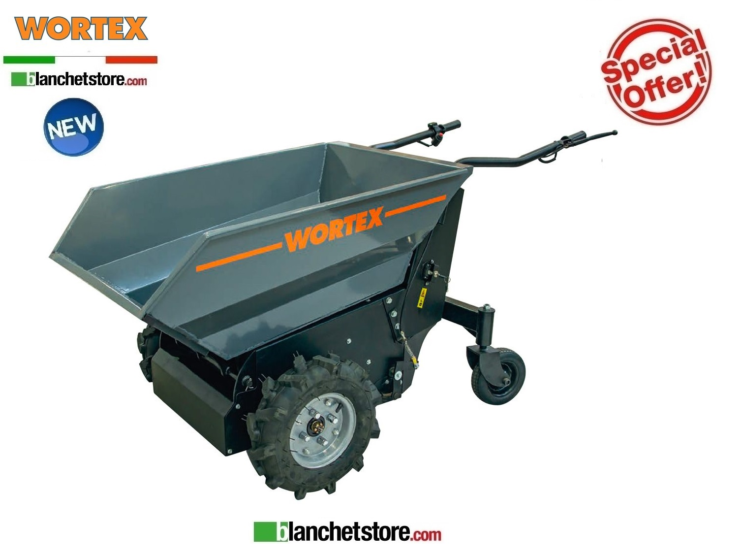 MOTOCARRIOLA DUMPER Wortex MD 500 E Elettrica 500 KG Rib.Manual